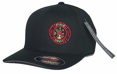 Fire Department Flexfit Fitted Hat Firefighter Paramedic EMT Rescue S/M L/XL XXL ()