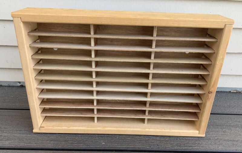 Vtg NAPA VALLEY Wood CASSETTE Tape HOLDER Shelf BOX 30