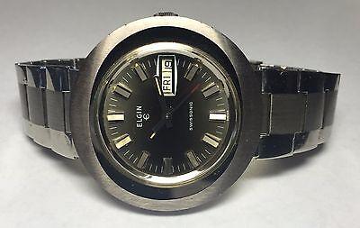 Vintage Rare 1970s Elgin Swisssonic Electric Watch