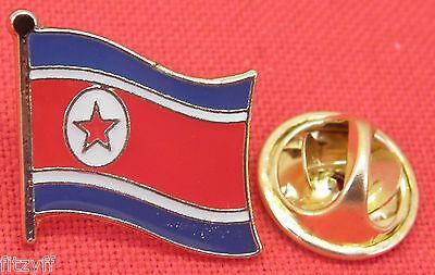 North Korea Country Flag Lapel Hat Cap Tie Pin Badge Korean Dprk