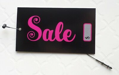 100 Price Tags Boutique Tags Pink Sale Sign Fashion Tags Hang Tags Plastic Loops