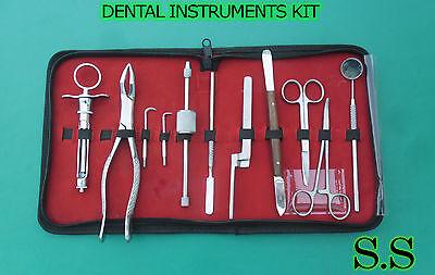 Dental Instruments Kit 10 Pc Crown Remover Syringe