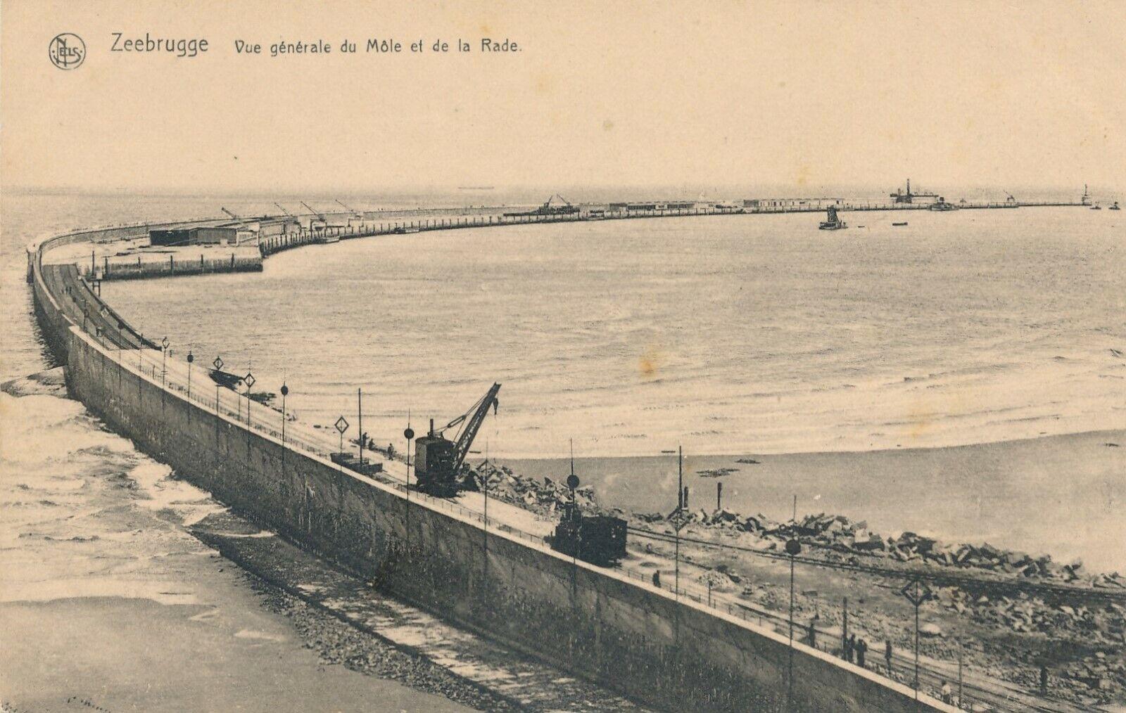CPA - Belgique - Zeebrugge - Vue générale du Môle et de la Rade
