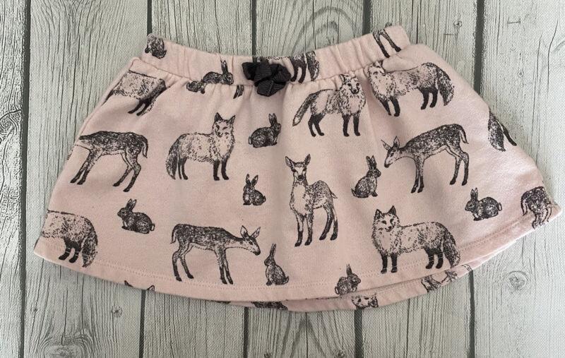 Genuine Kids Osh Kosh Size 18 Months Baby Girls Pink Fox Deer Skirt