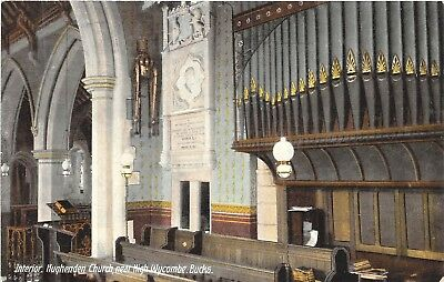 POSTCARD   BUCKS  HUGHENDEN   Church  (  Interior  )