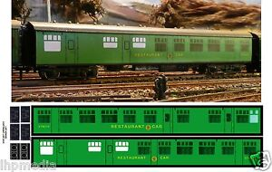 HORNBY DUBLO BR SR RESTAURANT CAR CONVERSION TRANSFERS