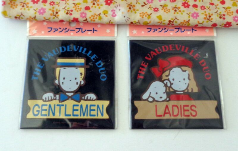 Sanrio The Vaudeville Duo Eddy & Emmy Gentlemen Ladies Sign
