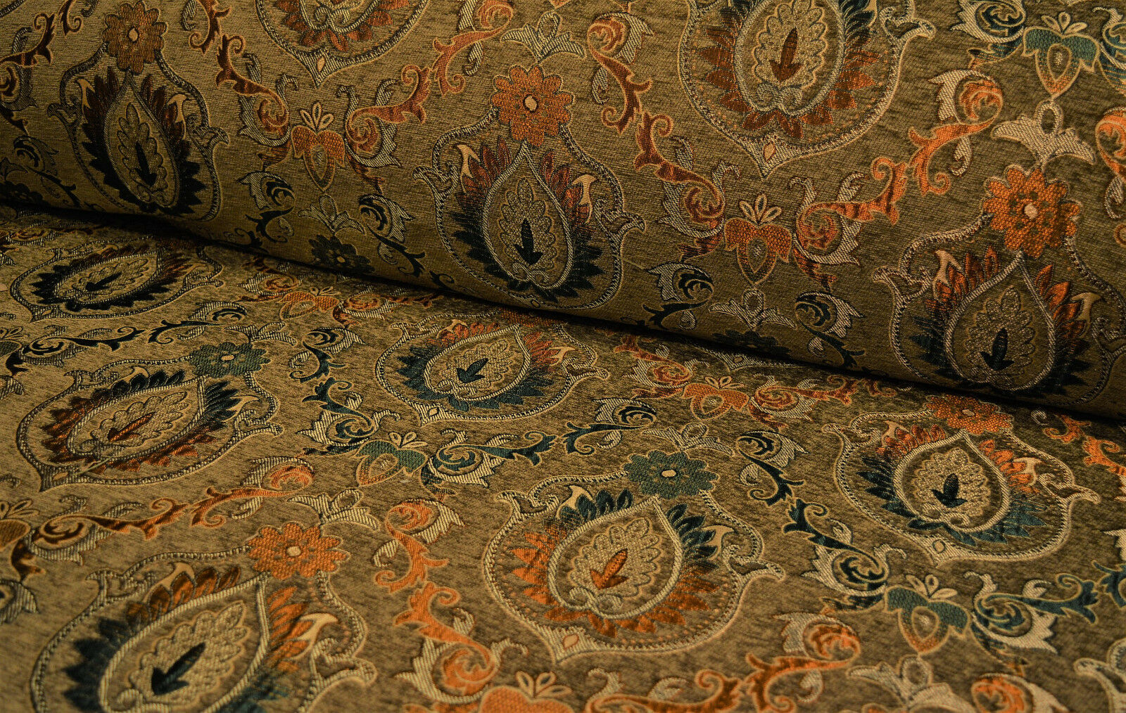 Amazing Mbelstoff Bezugsstoff Posterstoff Meterware Stoff Jacquard Ornament Barock Rank With Stoffe Ornamente