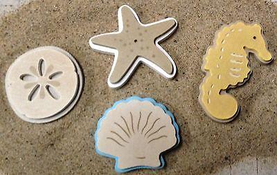 Beach Set of four, plastic mold, concrete mold, cement, plaster,