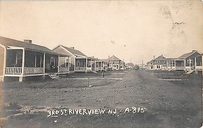 C 1920  Rppc Homes Third St  Riverview Nj Carneys Point