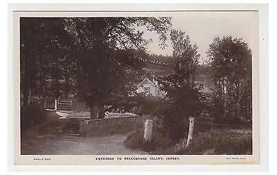 Jersey postcard - Entrance to Bellozanne Valley, Jersey - RP