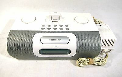 iLuv i177WHT AM FM iPod MP3 Player Dock Station Clock Radio Shuffle White