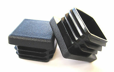 "10 - 1"" Square Tube Hole Plug Plastic End Cap 1x1 Inch Tubing Insert Glide 1 x 1"