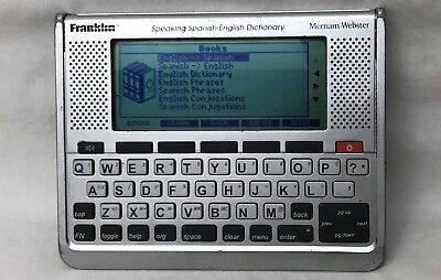 Franklin Speaking Spanish English Dictionary Handheld Talking Bes 1890   Tested