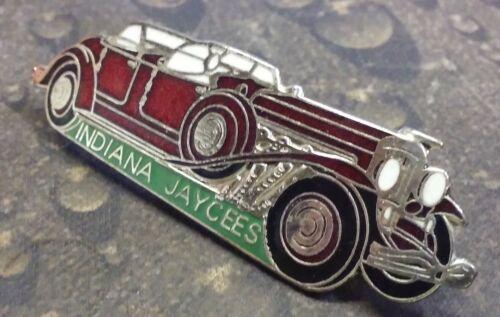 Indiana Jaycees Red Bentley car vintage pin badge