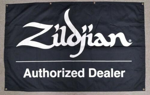 """Zildjian Authorized Dealer Banner 57""""x36"""" - Cymbals - Vintage USA Made"""