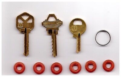 3 Keys Bump Key Set Kwikset Schlage Master Masterlock Padlock With O Rings