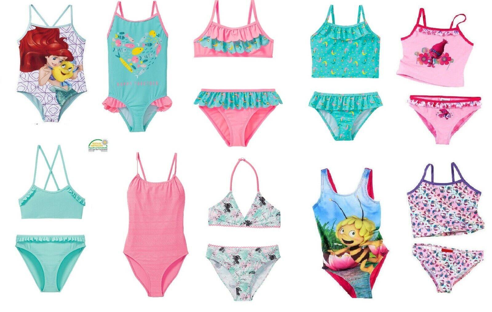 Mädche  Kinder Badeanzug Bikini Set Frozen Maja Trolls Hello Kitty auswahl