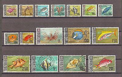 TANZANIA 1967 SG 142/57 Fine Used Cat £27