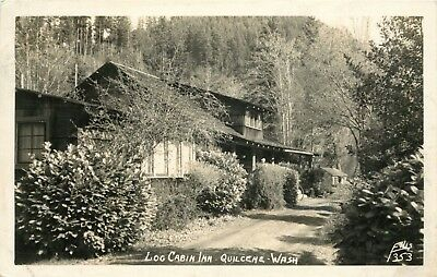 Used, A View Of The Log Cabin Inn, Quilcene, Washington RPPC 1951 for sale  Shipping to Canada