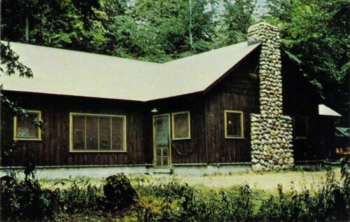 NY Pike CAMP SAM WOOD Boy Scouts of America DINING LODGE 1959-64 postcard BS6