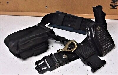 Police Security Combat Gear Tactical Black Utility Web Nylon Duty Belt 2 35-46