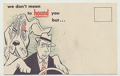 VTG Cities Service Oil Co Kool Motor Triple HD Blood Hound Cartoon Reminder Card