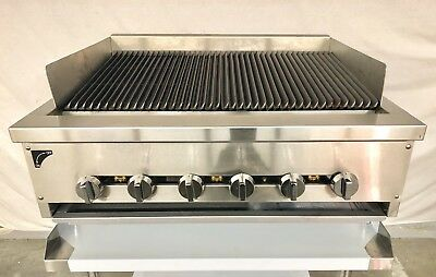 36 Gas Char Broiler Stand Heavy Duty Grill 3 Natural Or Propane Radiant