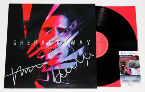 SHE PAST AWAY BAND SIGNED DISKOANKSIYETE LP VINYL RECORD AUTOGRAPHED +JSA COA
