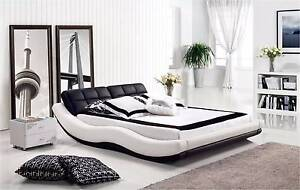 【Brand New】 Modern and Elegant Real Leather Bed Frame King Queen Nunawading Whitehorse Area Preview