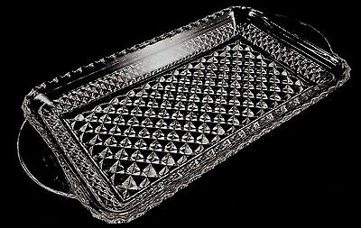 """Anchor Hocking Wexford Rectangle Serving Tray Crystal Clear Glass 10"""" x 5"""""""