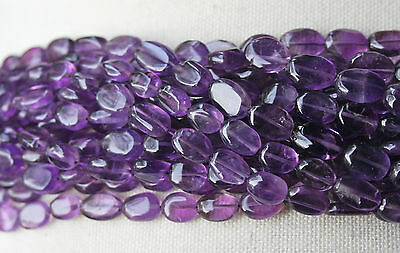 Amethyst (African) 9-11mm Purple Oval Beads  A Grade - Full Strand