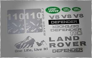 LAND ROVER DEFENDER 110 ADVENTURE V8/ TDI DECALS STICKERS KIT Stanhope Gardens Blacktown Area Preview