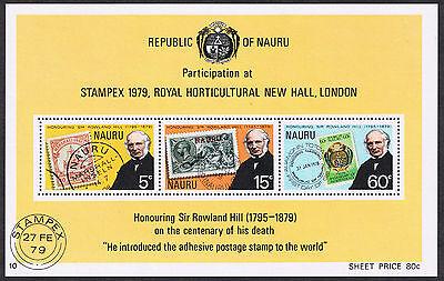 Republic of Nauru Stampex 1979 Sir Roland Hill Mini-Sheet Stamps MS207