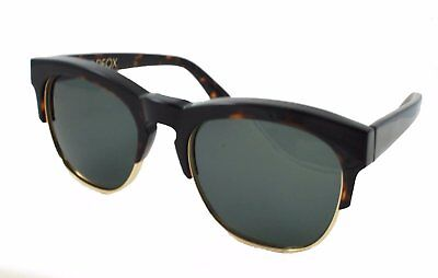 Wild Fox Club Fox Sunglasses Square Tortoise and Gold Frame Green Lenses (Wild Fox Sunglasses)
