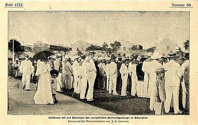 Zuschauer bei den Uebungen des europäischen Freiwilligenkorps in Schanghai 1900