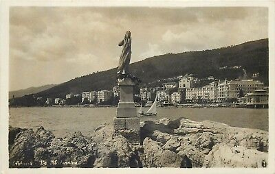 "Croatia Opatija "" La Madonnina "" Abbazia real photo postcard"