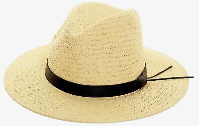 erstroh eleganter Sommerhut Cremefarbig Sonnenschutz Urlaub (Papier Hut)