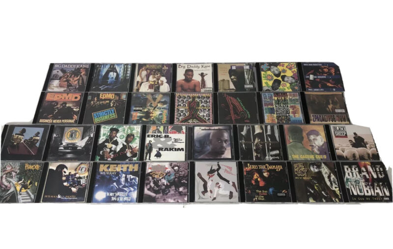 AMAZING Lot Of 30 90s Rap Hip Hop R&B CD LOT HTF OOP KANE EPMD JERU SOUL RAKIM