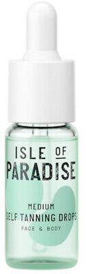 ISLE OF PARADISE Self-Tanning Drops For Face & Body~Medium .14oz Travel Size NEW