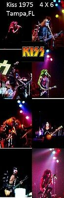 Kiss 1975 Set Of 13 Color 4 X 6 Photos Tampa,FL