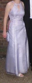 Light purple beaded ball gown / prom dress - size 8-10 (plus wrap)