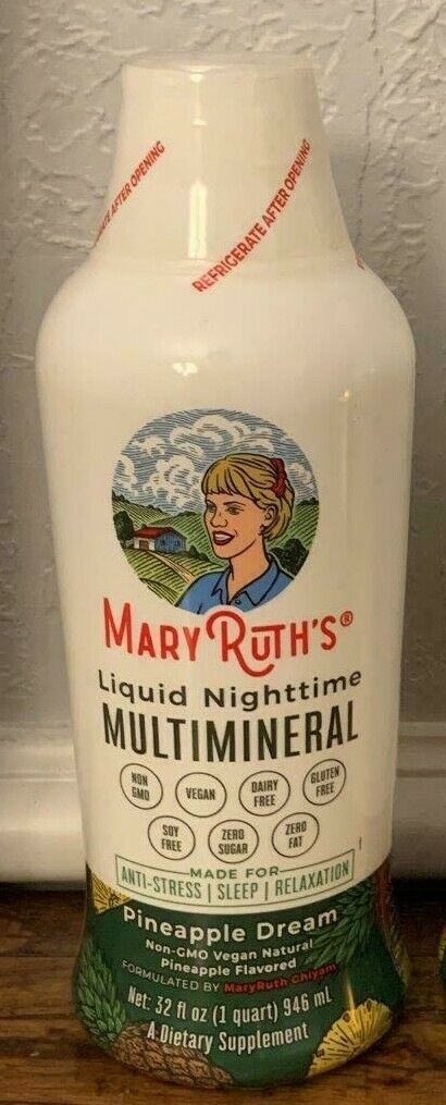 MARY RUTH'S Daily Liquid Nighttime Multimineral Pineapple Dream 32fl oz. New