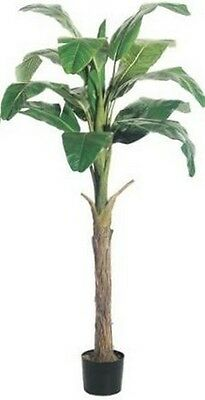 Artificial Banana Palm Tree 6 foot Plant Pot Arrangement Flower Floral 7 8 Patio (Artificial Banana Tree)