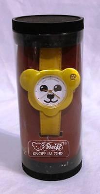 STEIFF TEDDY BEAR WRIST WATCH #606175 NEW IN OPENED PACKAGE ~ WOW!