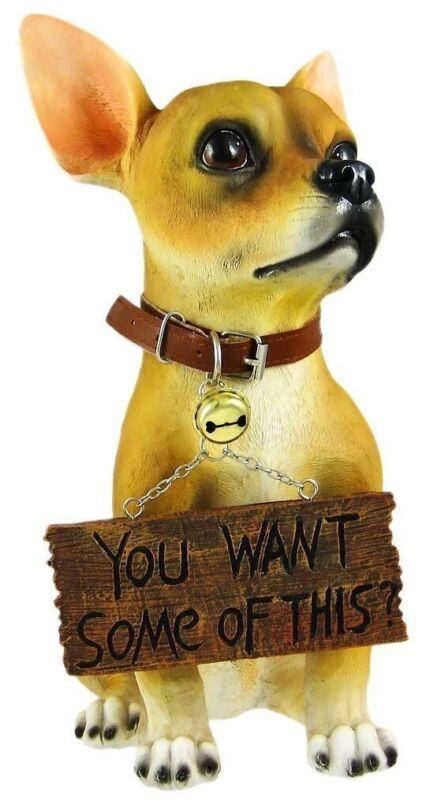 Chihuahua Dog Welcome Sign Want Some of This Figurine Home Garden Decoration
