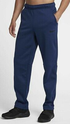 NIKE Men's $55 Dri-Fit Fleece Pants 2 Pockets NEW 860369-478 Sizes S-XXL Blue