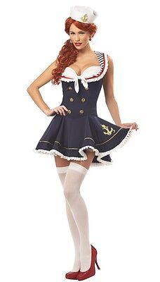 Kostüm Thema Matrosin Retro Polig Bis Matrose Uniform - Marine Kostüme Für Frauen