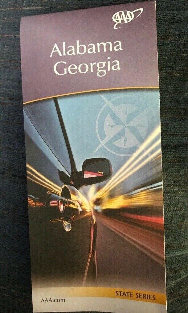ALABAMA GEORGIA STATE SERIES HIGHWAY MAP AAA 11/19-2/21 NEW - $5.75