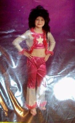 Halloween Costume Chic Diva Rocker Rock Star Child's Size Large 12-14 (Rock Star Diva Halloween Costumes)